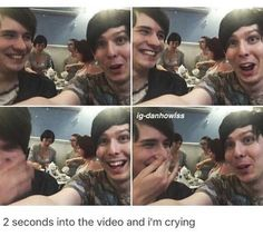 Dan in the second pic and Phil in the third
