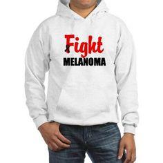 Melanoma Awareness Hooded Sweatshirt #melanoma #melanomaawareness #melanomashirts
