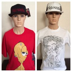 Veloveda Tees with Alien and Holla Designs for men Captain Hat, Tees, Clothing, Design, Fashion, Clothes, Moda, Chemises, Fasion