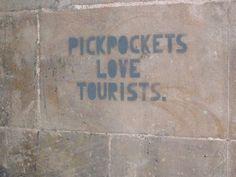 Avoiding #vacation #pickpocketers. #travel