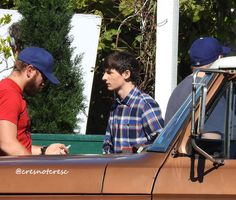 """""""Lana and Jared during rehearsal in front of Granny's. - Behind the scenes - 6*7 """"Heartless"""" - 20 September 2016"""