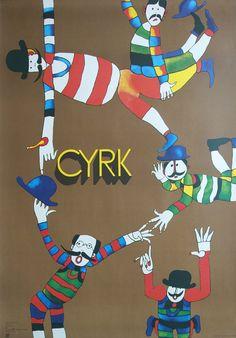 1988 CYRK Five Clowns by Marian Stachurski by OutofCopenhagen