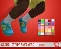 OnyxSims4puCasualStripeSneakers