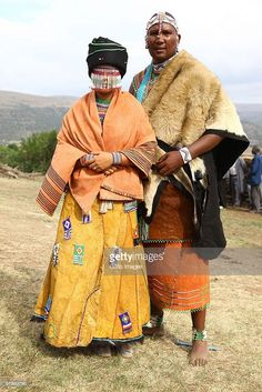 Mandla Mandela (grandson of former SA president Nelson Mandela) and his French wife Anais Grimaud during their wedding ceremony at the Mvezo Royal Palace on March 20, 2010 in Eastern Cape, South Africa.