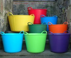 Kinsman Garden Large Trug Tubs in Brilliant Colors. Various Home and Garden Uses. Made of Recycled Polyethylene. Black Tub, Large Tub, Plant Supports, Container Gardening, Gardening Hacks, Trellis, Garden Tools, Garden Ideas, Keep It Cleaner