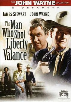 The Man Who Shot Liberty Valance is a 1962 American Western film directed by John Ford starring James Stewart and John Wayne. The black-and-white film was released by Paramount Pictures. The screenplay by James Warner Bellah and Willis Goldbeck was adapted from a short story written by Dorothy M. Johnson. The supporting cast features Vera Miles, Lee Marvin, Edmond O'Brien, Andy Devine, John Carradine, Woody Strode, Strother Martin, and Lee Van Cleef.