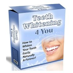 The Teeth Whitening 4 You is a easy manual designed by Lucy Bennett, she is a former dental nurse. Lucy explains that the main goal of her manual is very easy: Helping you get white teeth in just several weeks without draining your bank account and using only all-natural methods. Page: http://e-prohomehealthcare.com/go/teethwhitening4you