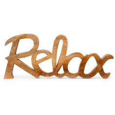 Famous Maker Relax Sign ($30) ❤ liked on Polyvore featuring home, home decor, wall art, wooden signs, wood home decor, wood wall art, standing sign and wooden home decor