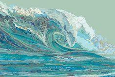 Matthew Cusick, Mylan's Wave, 2012 / 2012 © ru.lumas.com/ #Lumas,  ,  ,  ,  ,  ,  ,  ,  Abstract,  Atlas,  Collage,  graphic,  Illustration,  Landscape,  Last prints,  Last prints,  Map,  Nature,  Ocean,  Sea,  Water,  Wave,  Waves