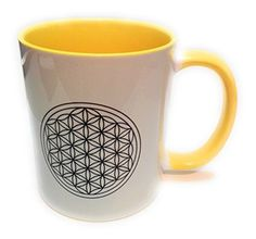 Mugs, Tableware, Funny Products, Flower Of Life, Funny Presents, Tea Cup, Coffee, Yellow, Unicorn