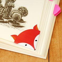 DIY - Printable fox corner bookmark | By Wilma