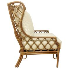 Furniture - Moroccan Rattan Wing Chair - Natural