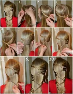 Hair Braiding Tutorial. There is only a pic.