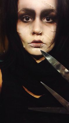 Edward Scissorhands Halloween make up by me :)