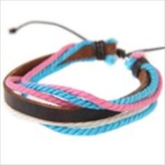Fashionable Multilayer Colored Rope Style Wristband Bracelet Hand Chain Wrist Ornament Jewelry for Girls Woman