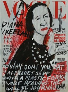 Diana Vreeland Vogue cover iilustration