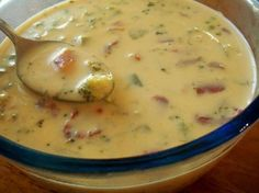 Weight Watchers Yummy Cheese Soup (Easy Too): 8 servings; 2 pts., 98.7 calories, 3.6 g fat per serving