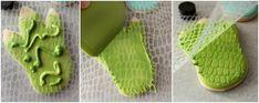 Sweetsugarbelle:  Dinosaur Foot Cookies
