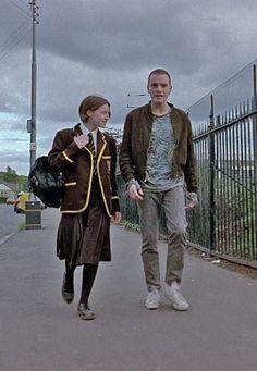 Kelly Macdonald as Diane & Ewan McGregor as Renton in Trainspotting, 1996.