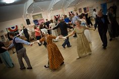 English country dancing is a great activity for getting social and getting moving.