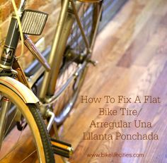 Would you like to know how to fix your own bike tire when you have a flat? Here are the steps in both English and SPANISH! Save money and fix your bike. Arregular una Lllanta ponchada!