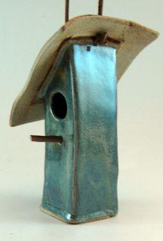 Ceramic Bird House Garden Art Decorative 817