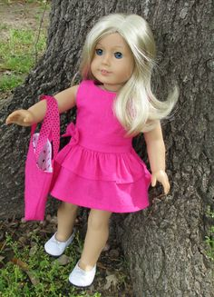 American Girl Doll Clothes  Pink Sparkly by EverythingNice4Dolls, $22.00