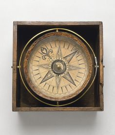 Mariner's compass circa 1750  National Maritime Museum, Greenwich, London