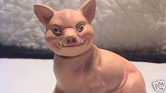 "4"" INO SCHALLER-Naughty Little Pig w/Tusks-Candybox- BAVARIA-GERMANY"
