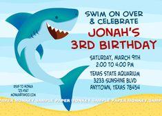 Shark invitation shark party invitation shark birthday invitation shark birthday party invitations filmwisefo