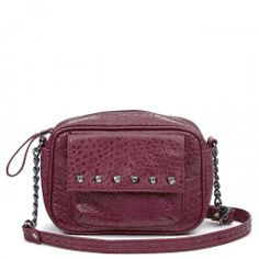 Dana Studded Camera Bag With Chain - Oxblood