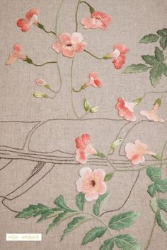Pin by Lorraine Shaiman on embroidery Diy Embroidery Patterns, Wool Embroidery, Creative Embroidery, Types Of Embroidery, Japanese Embroidery, Embroidery Needles, Silk Ribbon Embroidery, Floral Embroidery, Chinese Painting Flowers