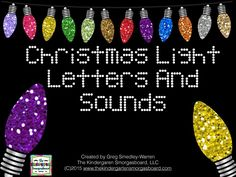 Christmas Lights Letters & Sounds