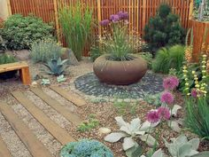 Try a modern japanese dry garden Great idea for hot and dry