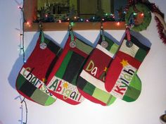 20 Christmas Stockings Personalized Set of SIX by handmadepretties