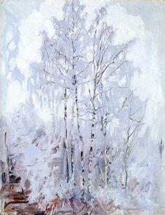 Akseli Gallen-Kallela, | 1865-1931-Frosty Birch Trees 1894 (BoFransson, via Flickr)
