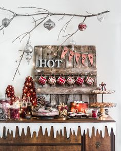 This is the Coziest Hot Chocolate Bar You'll See This Winter | Martha Stewart Living — And we have a customizable mug cozy to make as take-home gifts.