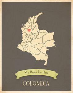 Children Inspire Design Kid's Wall Map, My Roots Colombia Personalized Wall Map Kid's Colombia Map Wall Art, Wall Art Print, Nursery Decor, Nursery Wall Art Map Wall Art, Art Wall Kids, Nursery Wall Art, Nursery Decor, Art For Kids, Wall Art Prints, Poster Prints, Posters, Colombia Map