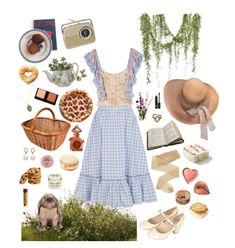 Discover outfit ideas for Nat. Eat Outside Day: Picnic Style made with the shoplook outfit maker. How to wear ideas for Avery Cropped Ruffled Floral-print and Ring Aesthetic Fashion, Aesthetic Clothes, Pretty Outfits, Cool Outfits, Fashion Outfits, Princesa Indiana, Picnic Outfits, Picnic Style, Vintage Picnic
