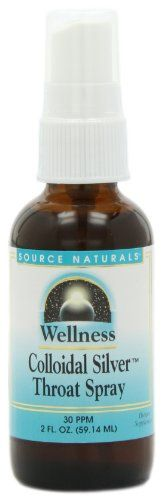 Source Naturals Wellness Colloidal Silver Throat Spray 2 Ounce *** Find out more about the great product at the affiliate link Amazon.com on image.