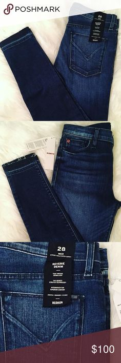 Hudson Jeans - Nico Midrise Ankle Super Skinny Never been worn! New with tags! I absolutely LOVE these jeans, but I dropped down two jean sizes by the time I wanted to wear them.   Midrise ankle super skinny with released hems. Reverie denim for that vintage denim look. Guaranteed to stretch, recover and remain a classic in your closet. My height is 5'9 if that helps for length measurements. Hudson Jeans Jeans Ankle & Cropped