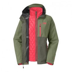 The North Face Thermoball Triclimate Ski Jacket (Women's) - Taupe Green Heather/Sea Spray Green