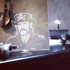 Glass engraved Lemmy. by Morgan Henriksen Engraving Tools, Glass Engraving, Cool Words, Darth Vader, Pattern, Inspiration, Biblical Inspiration, Patterns, Model