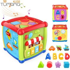 Tumama Multifunctional Musical Toys Toddler Baby Box Music Activity Cube Gear Clock Geometric Blocks Sorting Educational Toys - Shop Forest is a leading Online Store where you can purchase everything with upto discount. Musical Toys For Kids, Music For Toddlers, Toddler Music, Activity Cube, Activity Toys, Music Activities, Infant Activities, Baby Learning Toys, Toy Musical Instruments