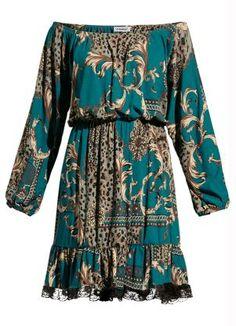 Vestido Estampa de Lenço com Babado de Renda - Quintess Office Outfits, Dream Dress, Formal, Ideias Fashion, Kimono Top, Fashion Looks, Plus Size, Casual, Fashion Design