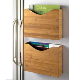 Magnetic Bamboo File Box // $11.95 - $21.95 [ http://www.magnetsolver.com/mageticbambooorganizers.html ]