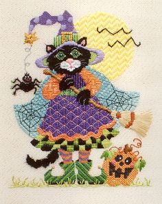 1054 Allegra The Halloween Cat by Just Libby (Sturdy) Designs