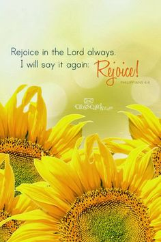 Philippians 4:4. Rejoice in The Lord!  Rejoice! #scripture