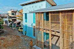 Kouk Khleang Youth Center, Phnom Penh, Cambodia by Komitu Architects. Photo by Montana Rakz.