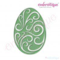 Fancy Easter Egg 40 Filled Embroidery Design by Embroitique